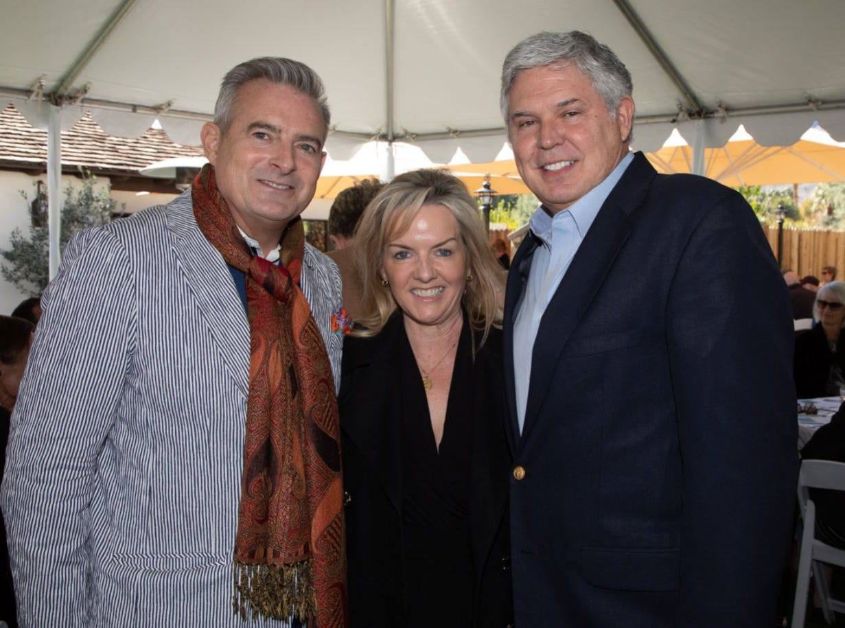 (left to right) Event co-chair Patrick Mundt, Amy Jeandron, and Guide Dogs of the Desert's Board Chair Gary Jeandron.