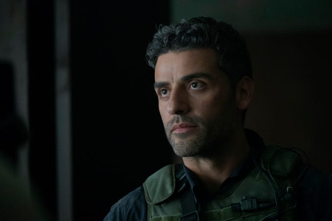 "Oscar Isaac plays Santiago ""Pope"" Garcia in ""Triple Frontier."""
