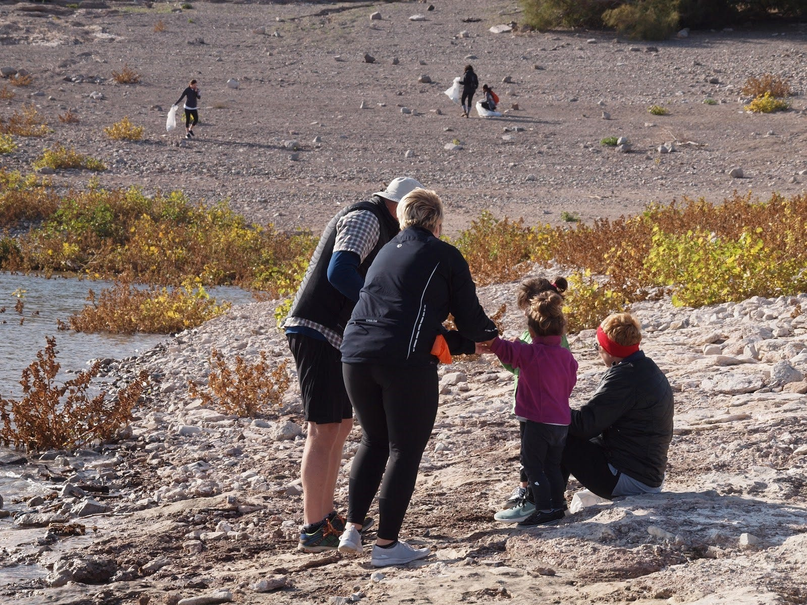 Children were a part of the cleanup effort at Lake Pleasant on Nov. 23, 2018.