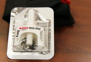Narcan nasal spray is used by first-responders to treat opioid overdoses. San Luis police Lt. Marco Santana says he used this spray recently to treat a high school student.