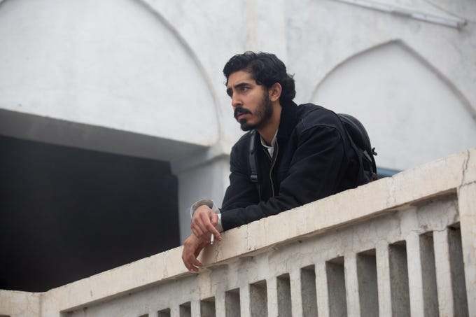 "Dev Patel plays a man with an unusual mission in ""The Wedding Guest."""