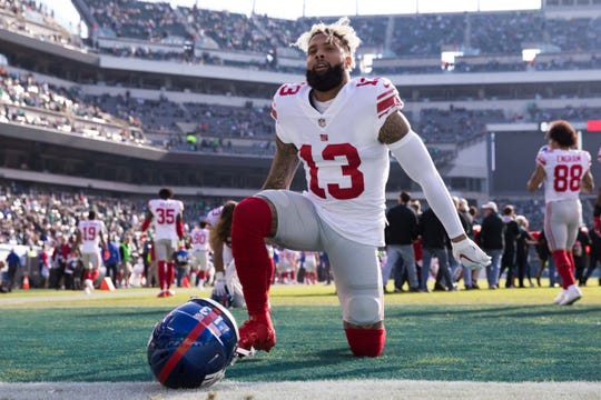 New York Giants wide receiver Odell Beckham is the highest paid wide receiver in the NFL.