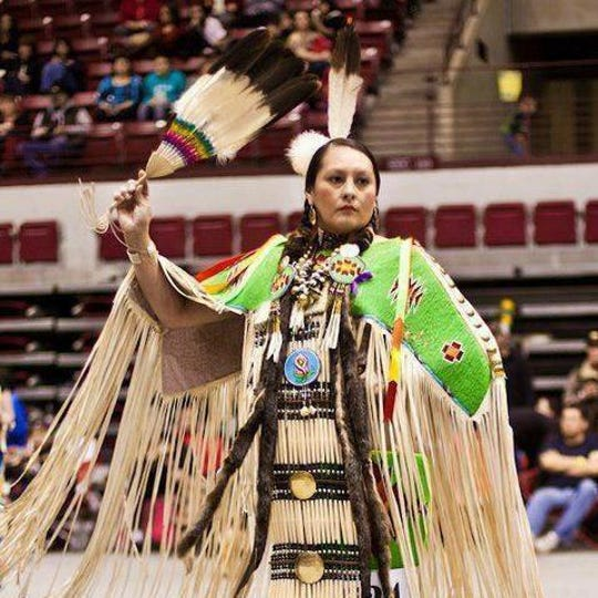Lacey Bacon is a member of the Shoshone-Bannock, Collvile and Spokane Tribes. She will be one of the head dancers at Arizona's first two spirit powwow at South Mountain Community College.