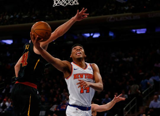 Allonzo Trier average 10.9 points per game with 3.1 rebounds per game for the Knicks.