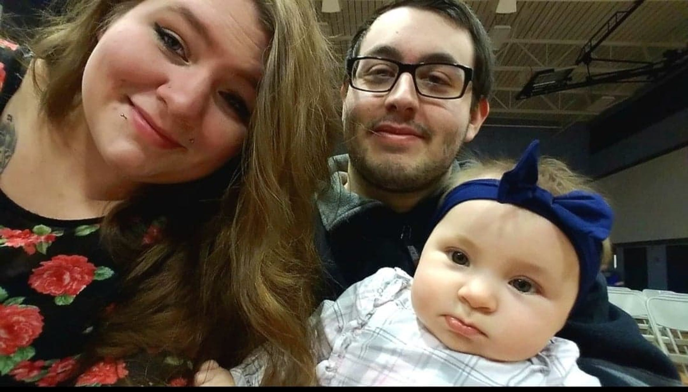 Jessica Lybrand of Middletown smiles for the camera with her husband Zachary and daughter Elliana. Zachary and Elliana died in a crash caused by a tractor trailer driver with a suspended license.