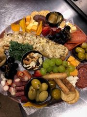 An Anchor Point Bistro charcuterie board.