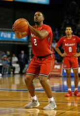 Marist Red Foxes guard Brian Parker plays against the Buffalo Bulls at Alumni Arena in Buffalo on Nov. 24.