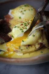 Brunch, including Eggs Benedict, is served from 9 a.m.-1 p.m. both Saturday and Sunday at Butterfields.