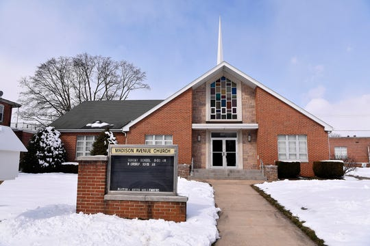 The Madison Avenue Church was damaged by a fire, Tuesday, March 5, 2019. John A. Pavoncello photo