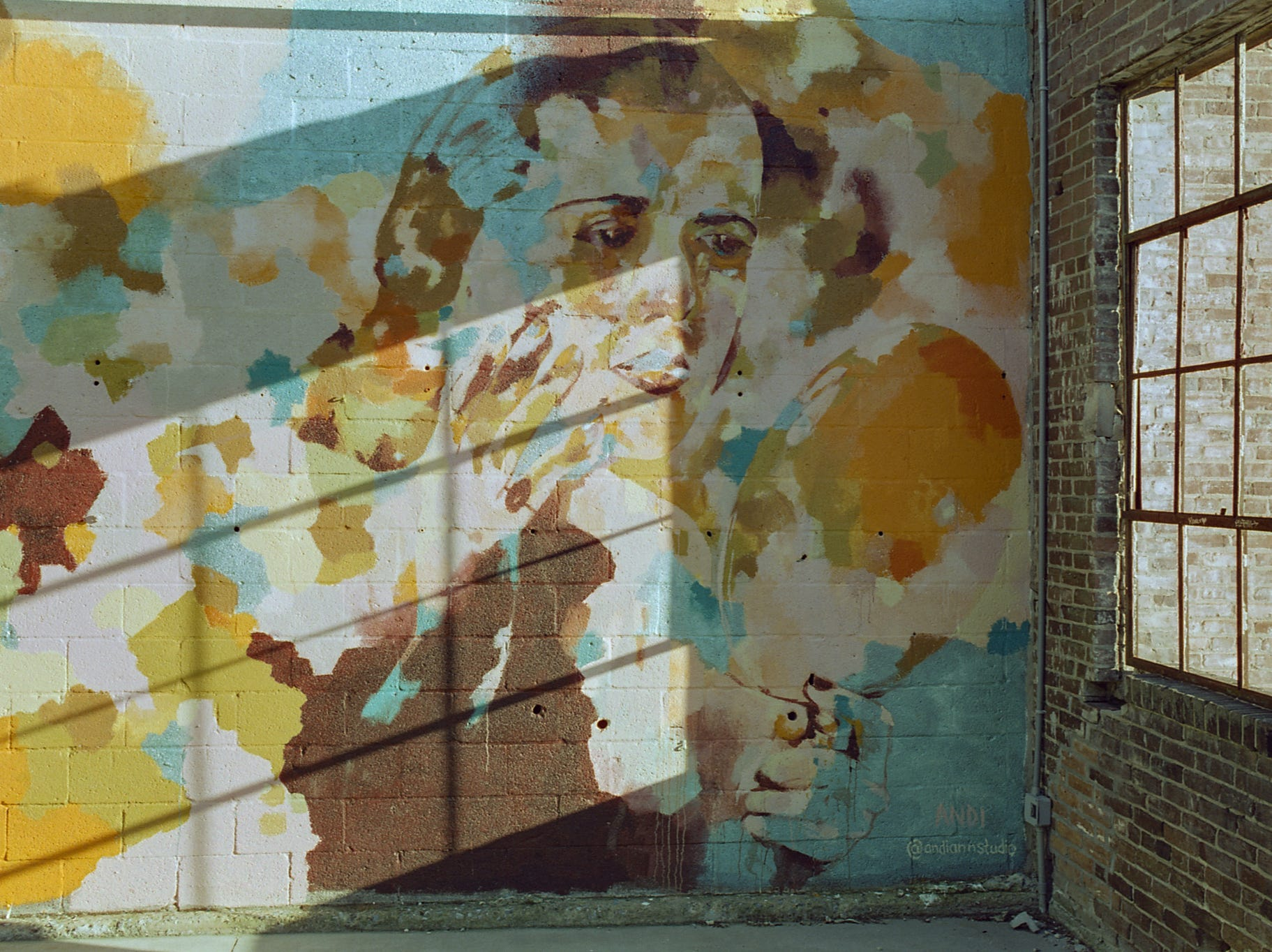 A mural at The Bond in the Royal Square district [Pentax KX] [CineStill 50D]
