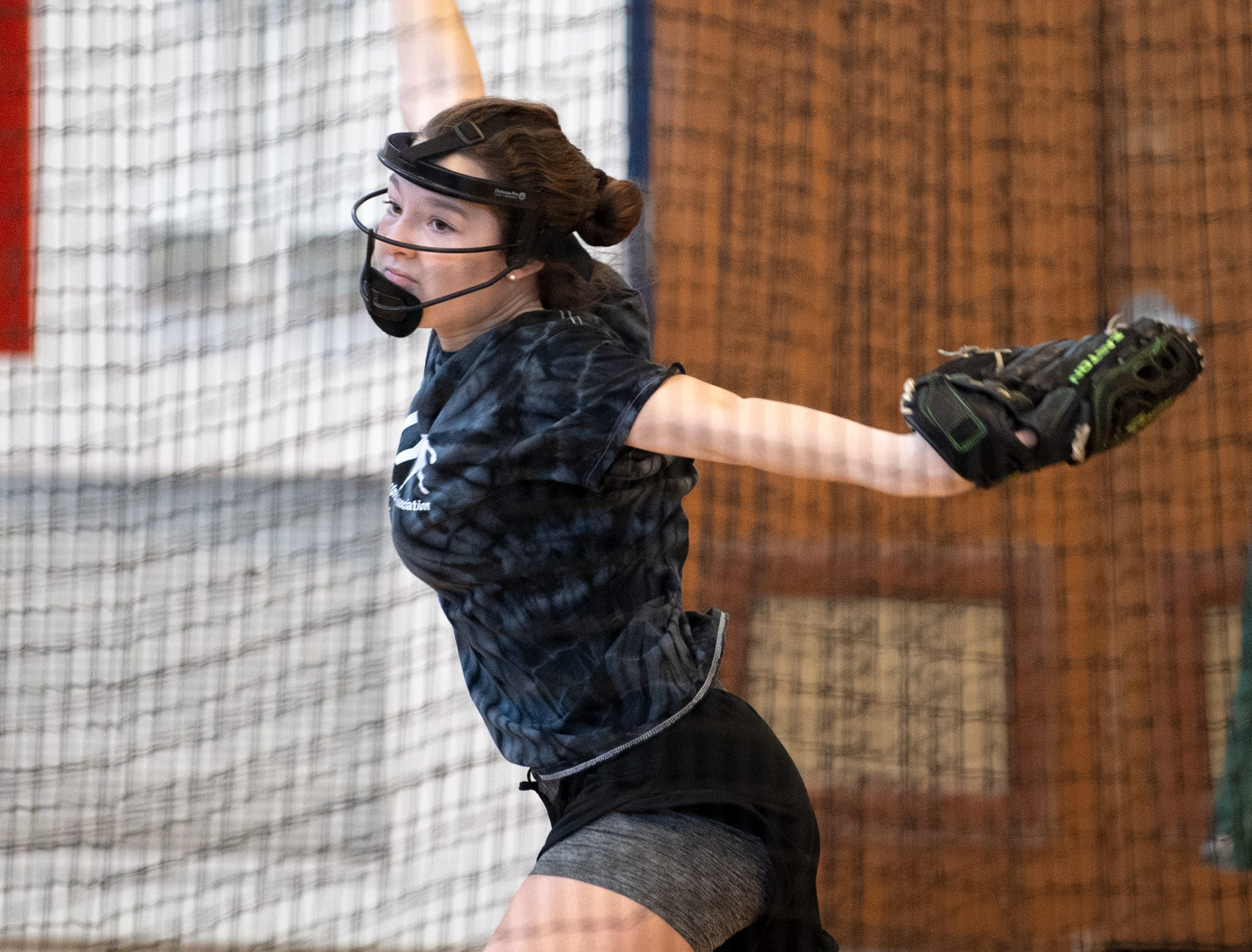 West York's softball pitchers get their reps in during practice, March 5, 2019.