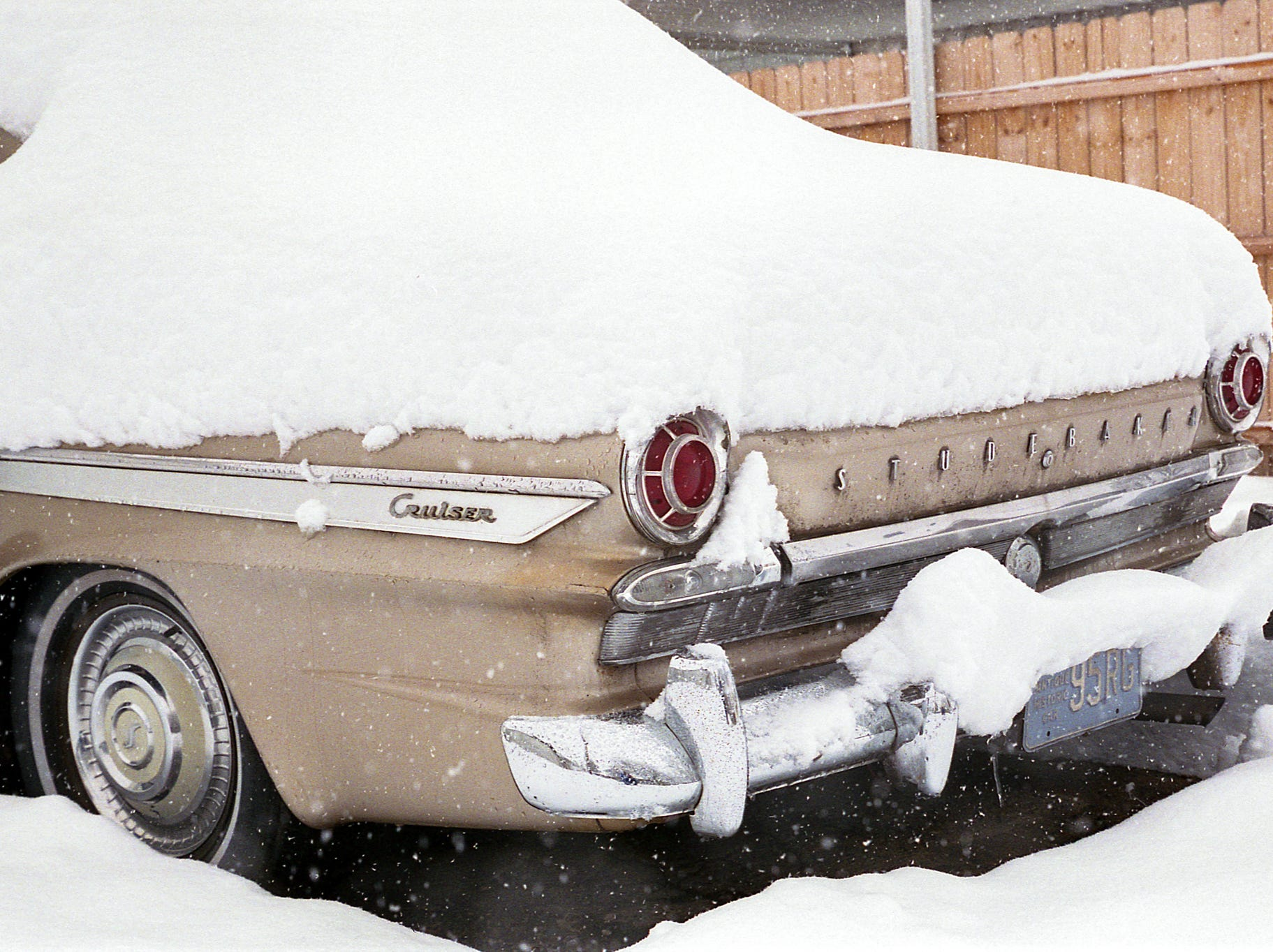 An old Studebaker on a snowy day. [Nikon F100] [Agfa Vista 400]