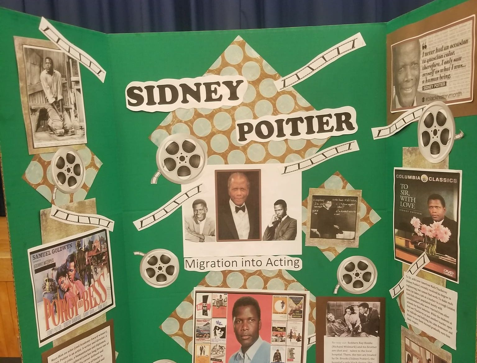 Students present exhibits documenting the lives, history and culture of African American leaders during the A.R.C's African American History Fair at the Crispus Attucks Center,  March 5, 2019.