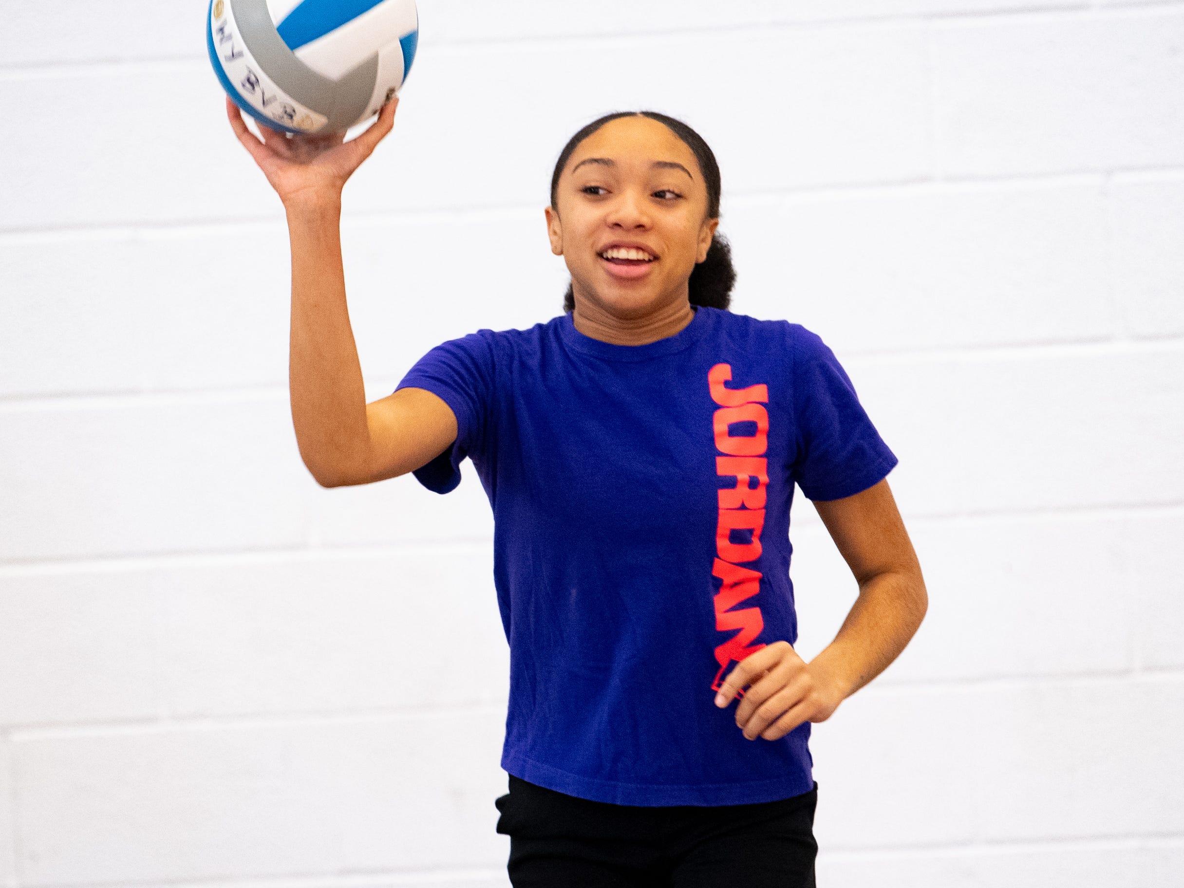 West York's girls' volleyball team runs through drills during practice, March 5, 2019.