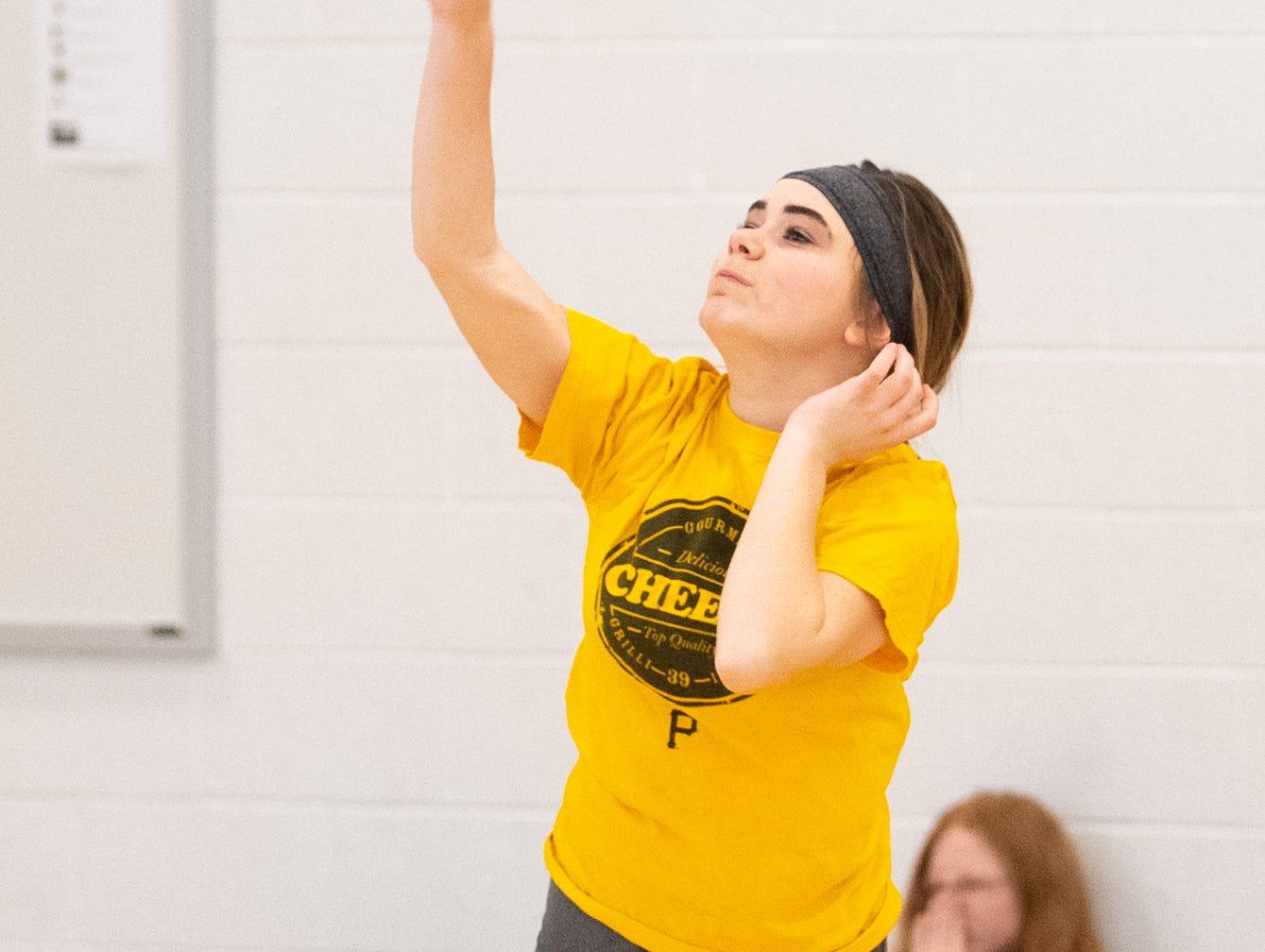 West York's girls' volleyball team works to improve their fundamentals, March 5, 2019.