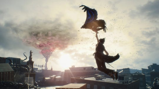 V flies with Griffon in Devil May Cry 5 for PC, PS4 and Xbox One.