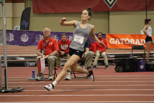 Nevada sophomore Nicola Ader will compete in the high jump this week at the NCAA Indoor Championships.