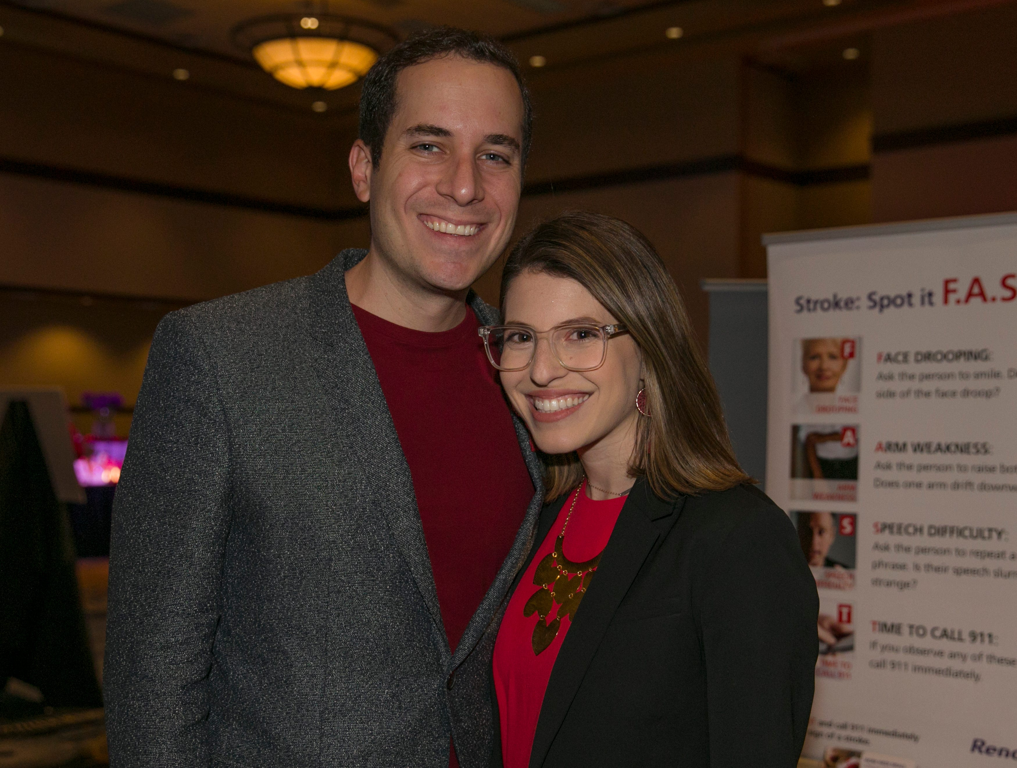 Adam Poler and keynote speaker Michelle Poler during the 15th Annual Go Red for Women Luncheon on Friday night,March 1, 2019 held at the downtown Reno Ballroom.