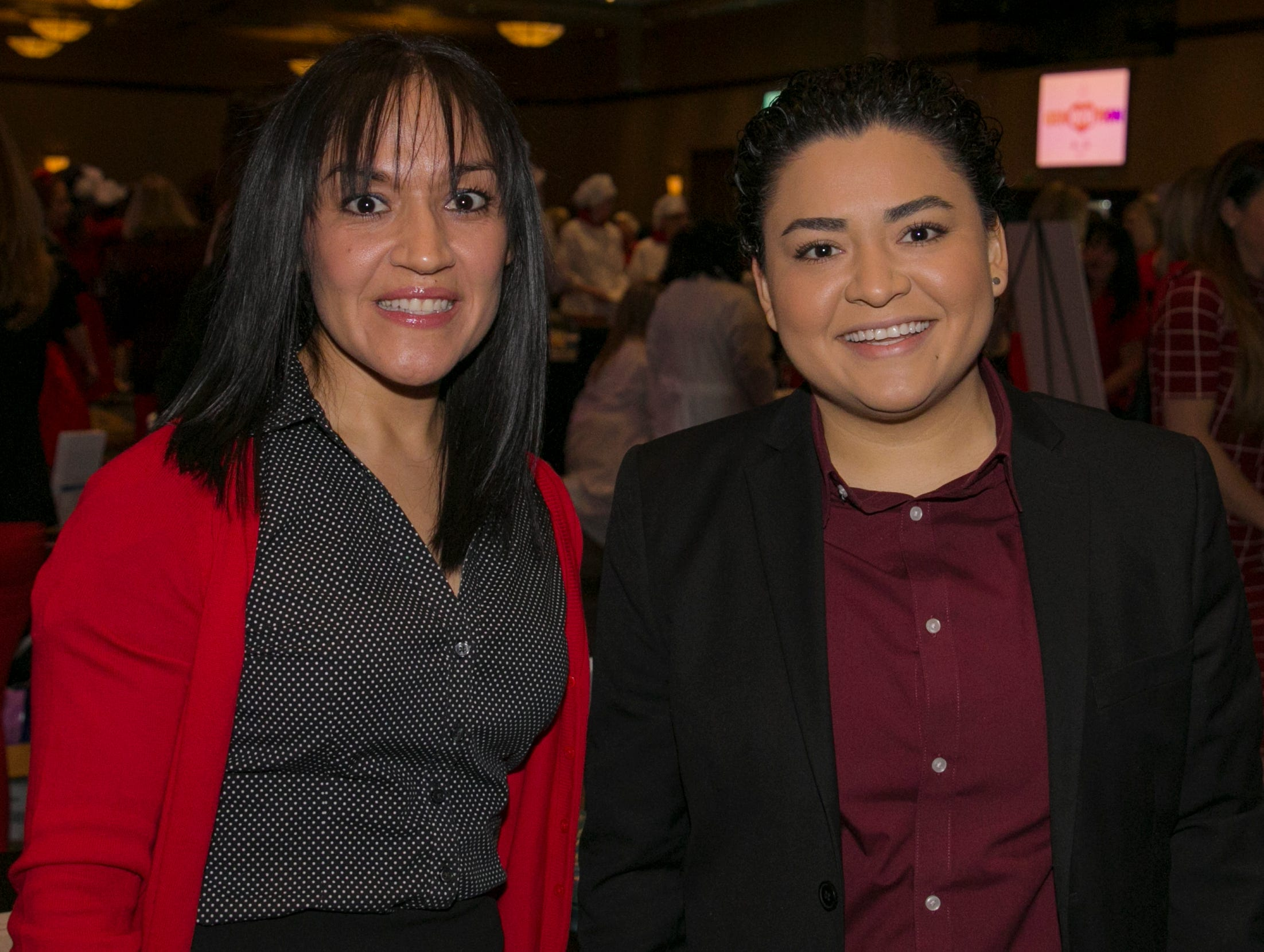Maria Reyes and Lilian Zwart during the 15th Annual Go Red for Women Luncheon on Friday night,March 1, 2019 held at the downtown Reno Ballroom.