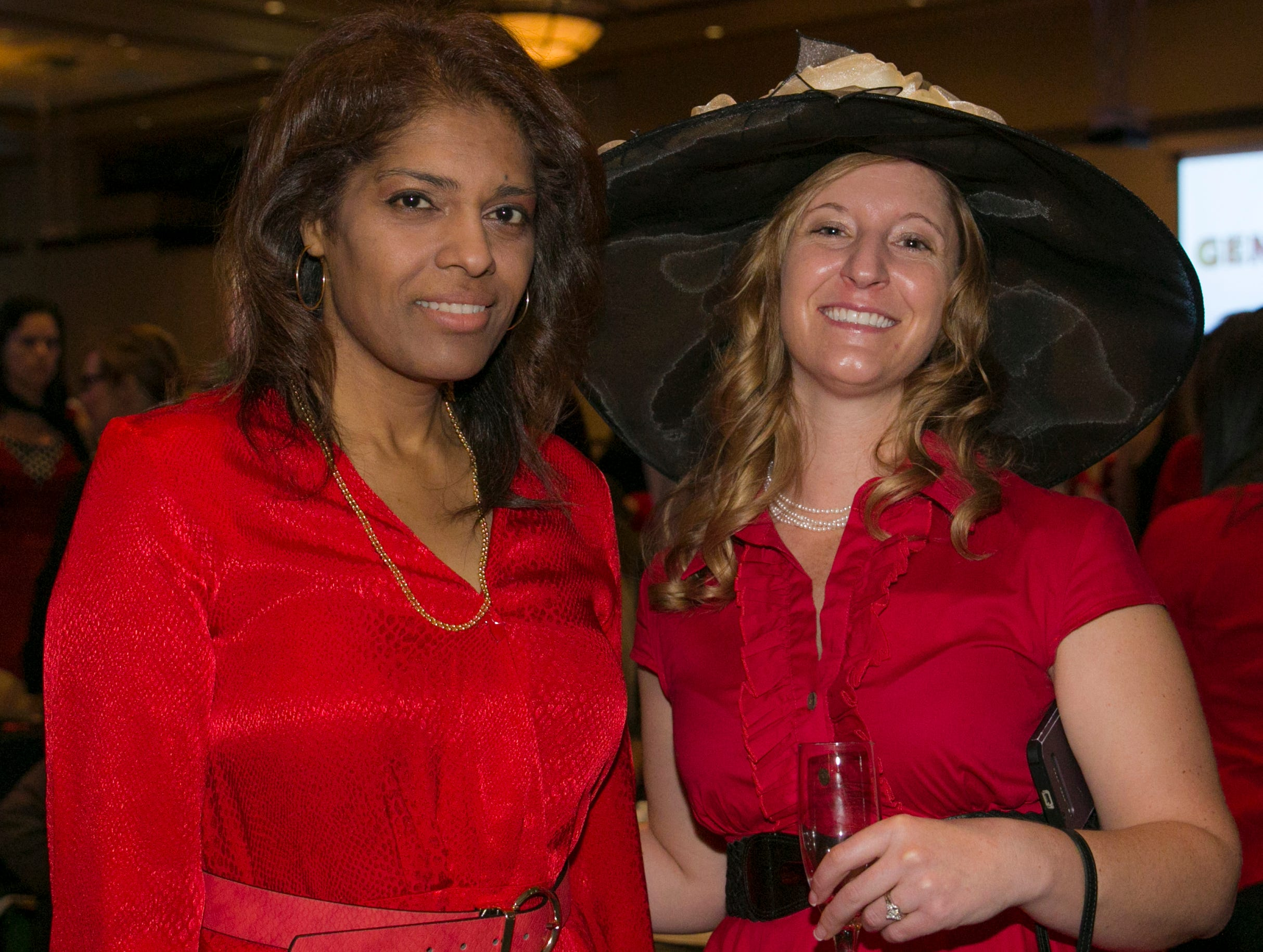 Dr. Kim Nuthi and Dr. Molly Torvinen during the 15th Annual Go Red for Women Luncheon on Friday night,March 1, 2019 held at the downtown Reno Ballroom.