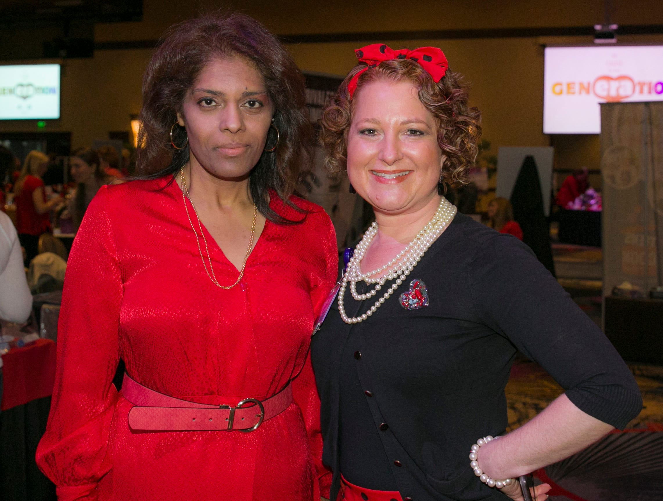 Dr. Kim Nuthi and Robin Krueger during the 15th Annual Go Red for Women Luncheon on Friday March 1, 2019 held at the downtown Reno Ballroom.