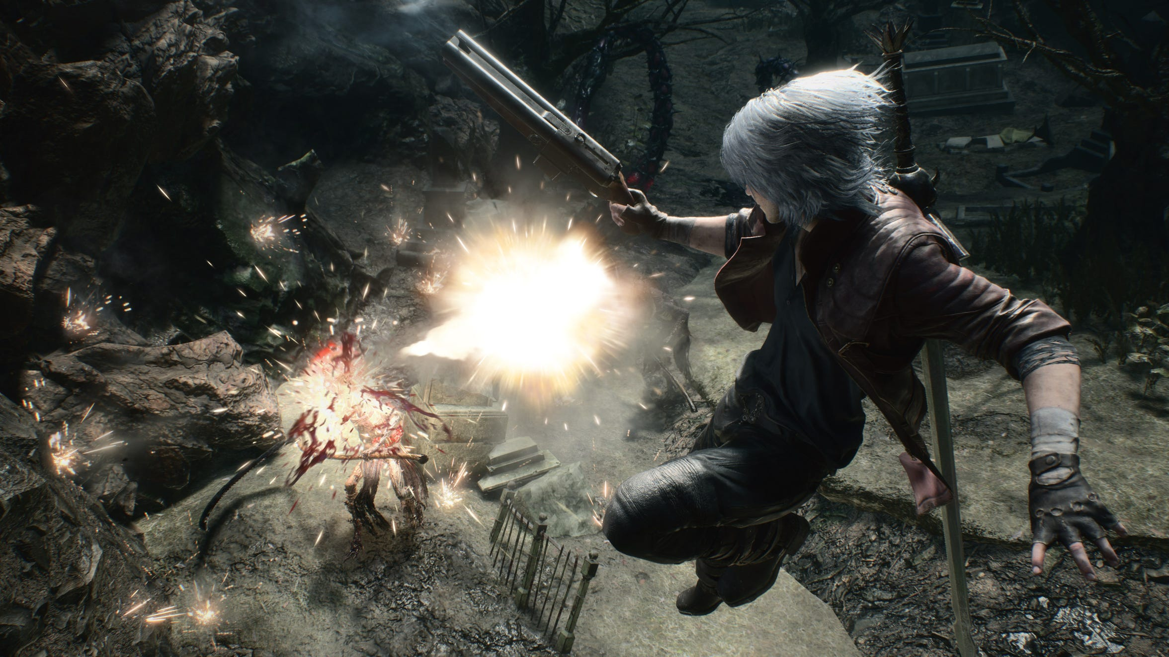 Dante enter the fray in Devil May Cry 5 for PC, PS4 and Xbox One.