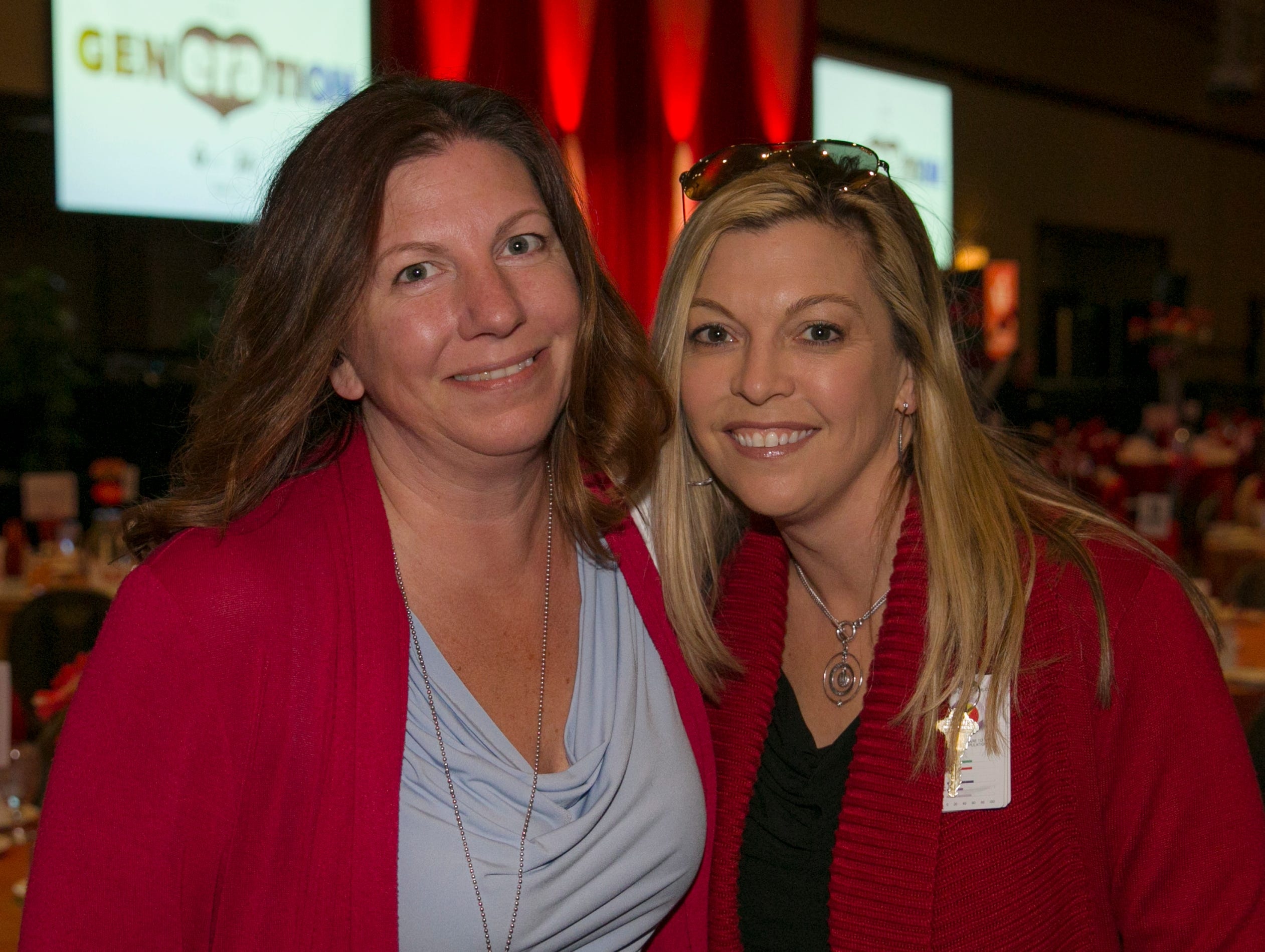 Tammy Evans and Jennifer Williamson during the 15th Annual Go Red for Women Luncheon on Friday March 1, 2019 held at the downtown Reno Ballroom.