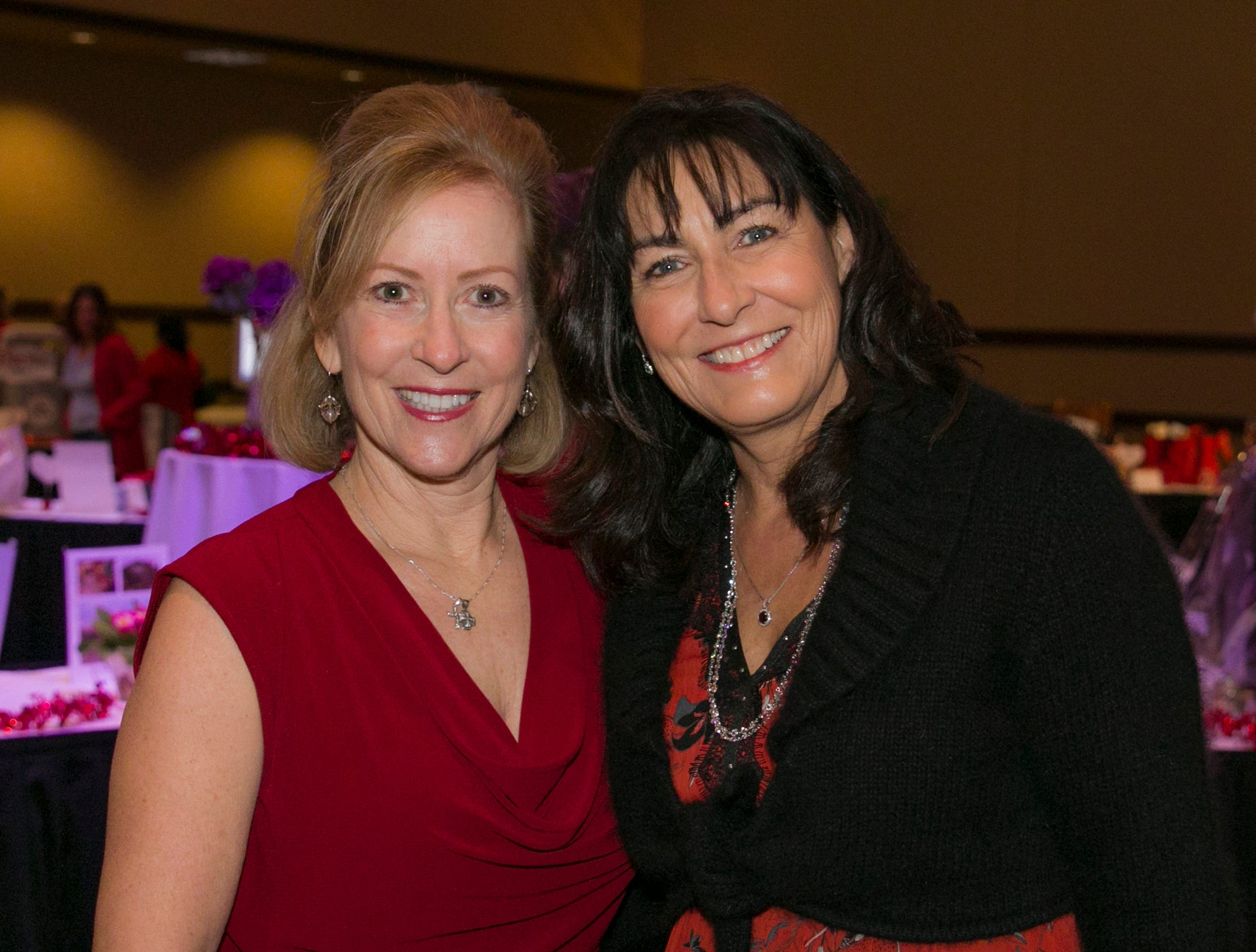Sue Foltz and Nadine Winn during the 15th Annual Go Red for Women Luncheon on Friday night,March 1, 2019 held at the downtown Reno Ballroom.