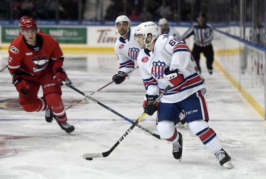Rochester Americans center Danny O'Regan ranks second on the team with seven power play goals this season.