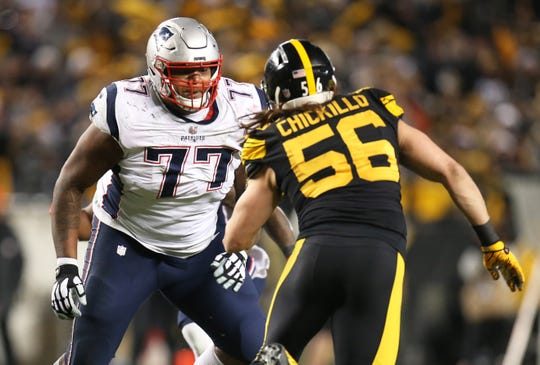 Trent Brown played one year for the Patriots and won a Super Bowl ring.