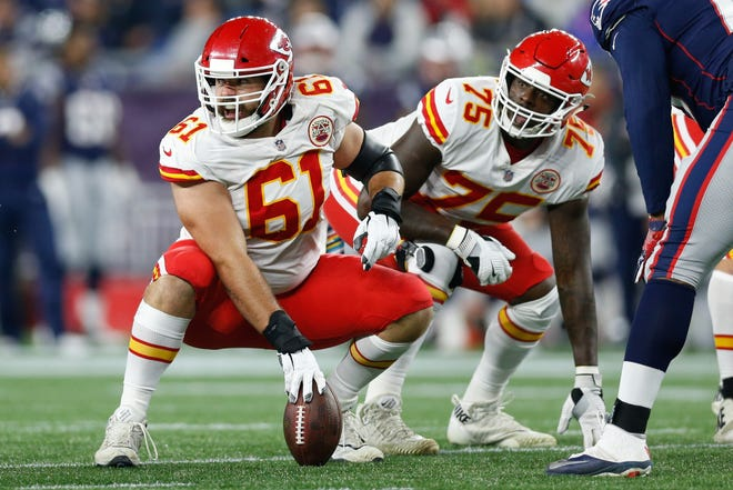 Mitch Morse has been a superior pass protector in the middle of the Chiefs line.