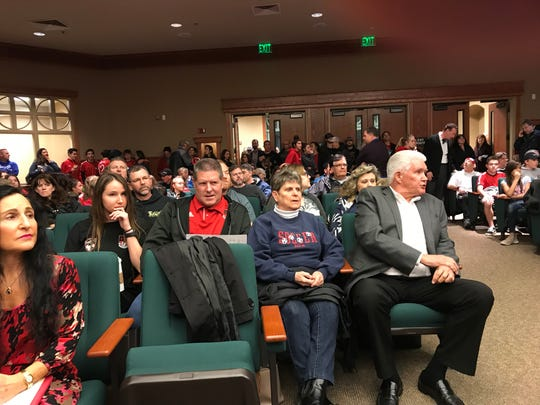 One youth held a sign reading 'Make Soccer Great Again.' A standing room-only crowd turned out to push for funding Redding's soccer parks.