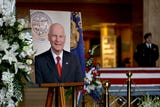 Oregonians said farewell to Secretary of State Dennis Richardson during ceremonies at the Oregon State Capitol Wednesday.