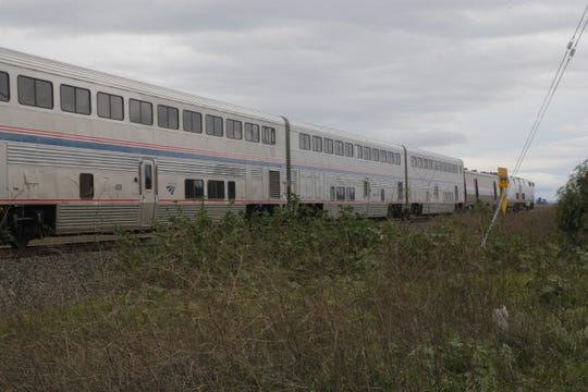 An Amtrak Coast Starlight train hit a pedestrian trespassing on railroad lines in Salinas Tuesday.