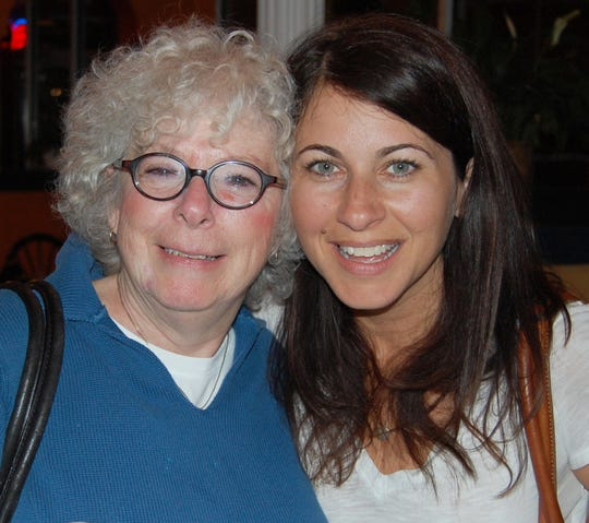 """Erica Cramer Messer, right, is the executive producer of """"The Biggest Little Farm,"""" which will be screened Saturday at the Ocean City Film Festival. Messer, a Stephen Decatur High School graduate, is pictured with former Decatur teacher Gwendolyn Lehman."""