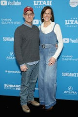 """John Chester (L) and Molly Chester attend the The Biggest Little Farm"""" Premiere during the 2019 Sundance Film Festival at The Marc Theatre on January 29, 2019 in Park City, Utah. John Chester is a 1990 graduate of Stephen Decatur High School in Berlin."""