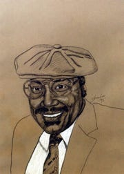 Louisiana State Rep. Ernest Baylor, Jr.  sketched this image of Carl Pierson.