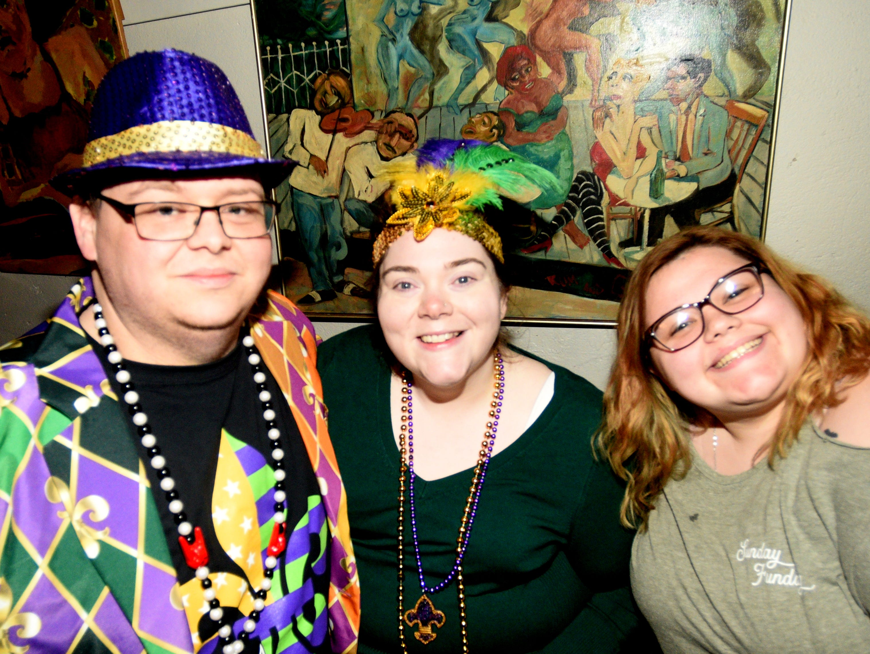 Fat Tuesday Walking Parade (moved indoors because of weather) Tuesday evening, March 5, 2019, at 624 Commerce Street in downtown Shreveport.