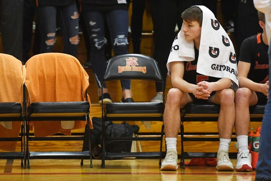 Dell Rapids' Logan Ellingson before the game against Parker Tuesday, March 5, 2019 at Roosevelt High School in Sioux Falls. Ellingson and Drew Van Regenmorter are two returning seniors for the Quarriers, who are scheduled to play Dell Rapids St. Mary on Dec. 28.