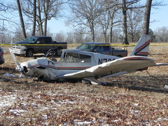 A Springfield man died when this Piper Cherokee 180 crashed in a field Wednesday morning near Summersville.