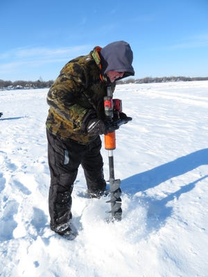 Duane Osgood is one of the many anglers that made the switch to electric ice augers.