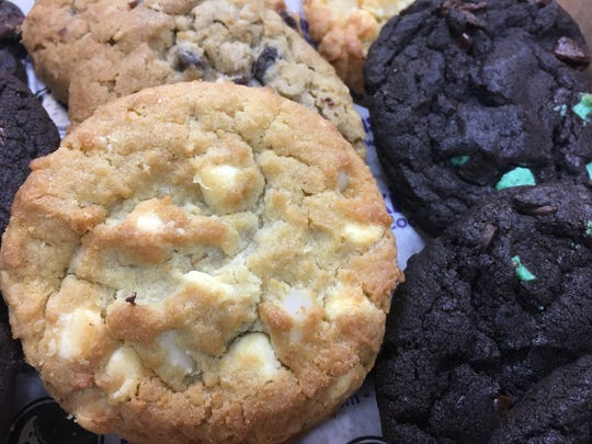 Insomnia Cookies bakes all their cookies, like these white chocolate macadamia, oatmeal raisin and double chocolate mint cookies, fresh in-store daily. The St. Cloud Times reporting staff tried all the traditional cookie offerings from Insomnia Cookies Wednesday, March 6.