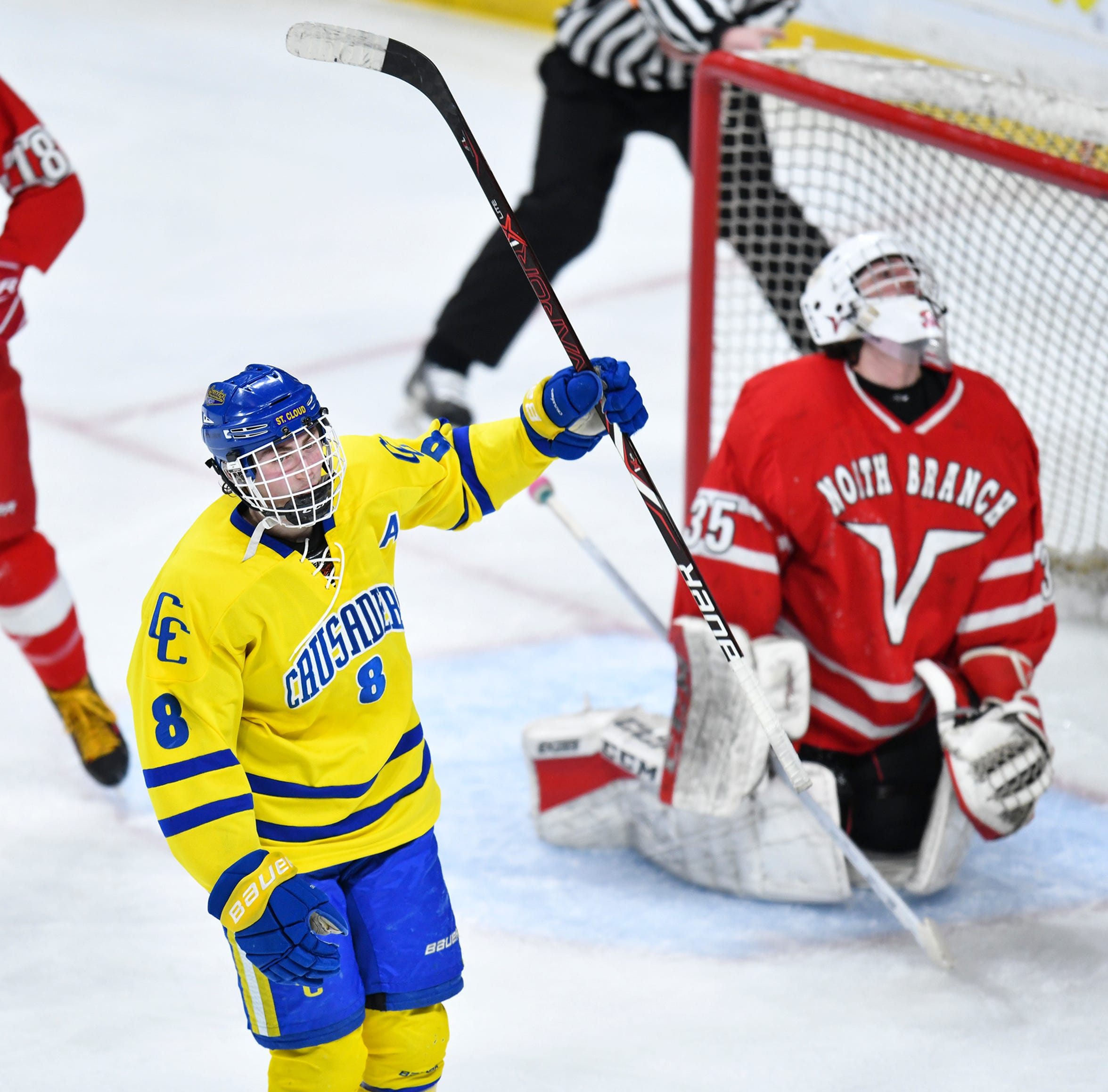 Crusaders get a second-period wakeup call, roll into semifinals