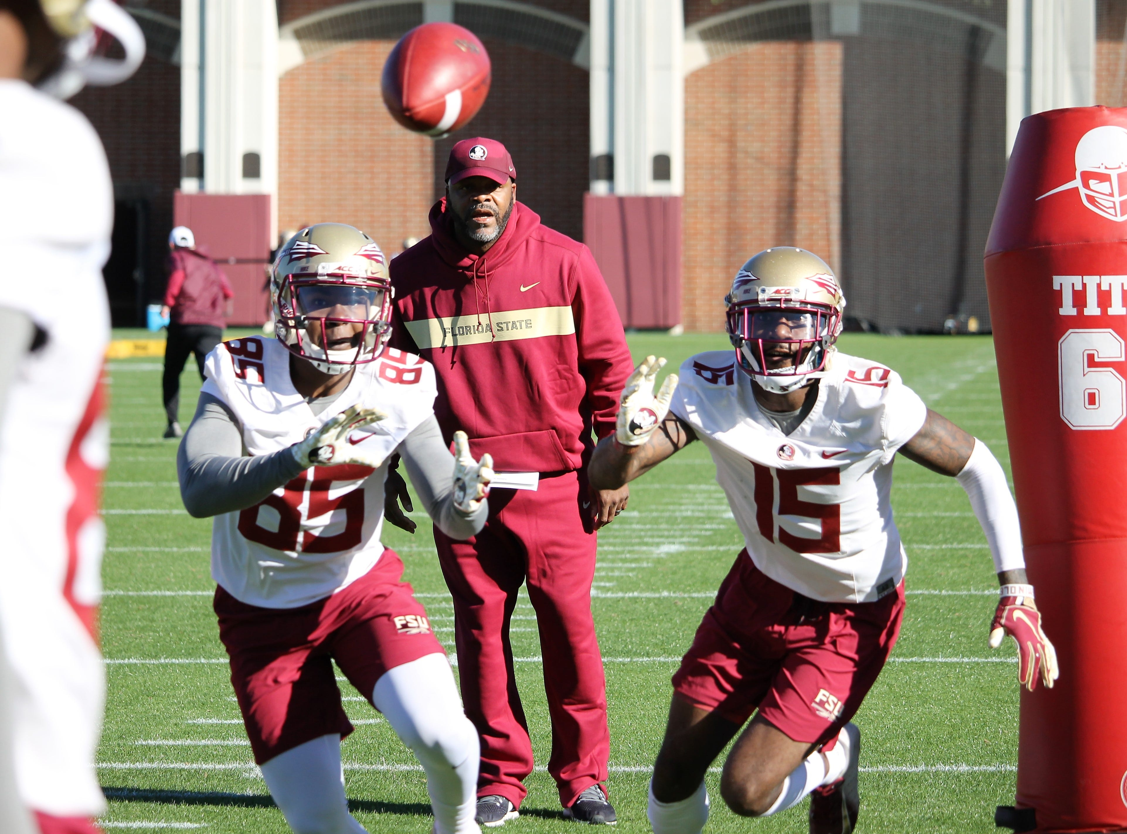 Wide receiver Tamorrion Terry (15) at FSU football practice on March 6, 2019.