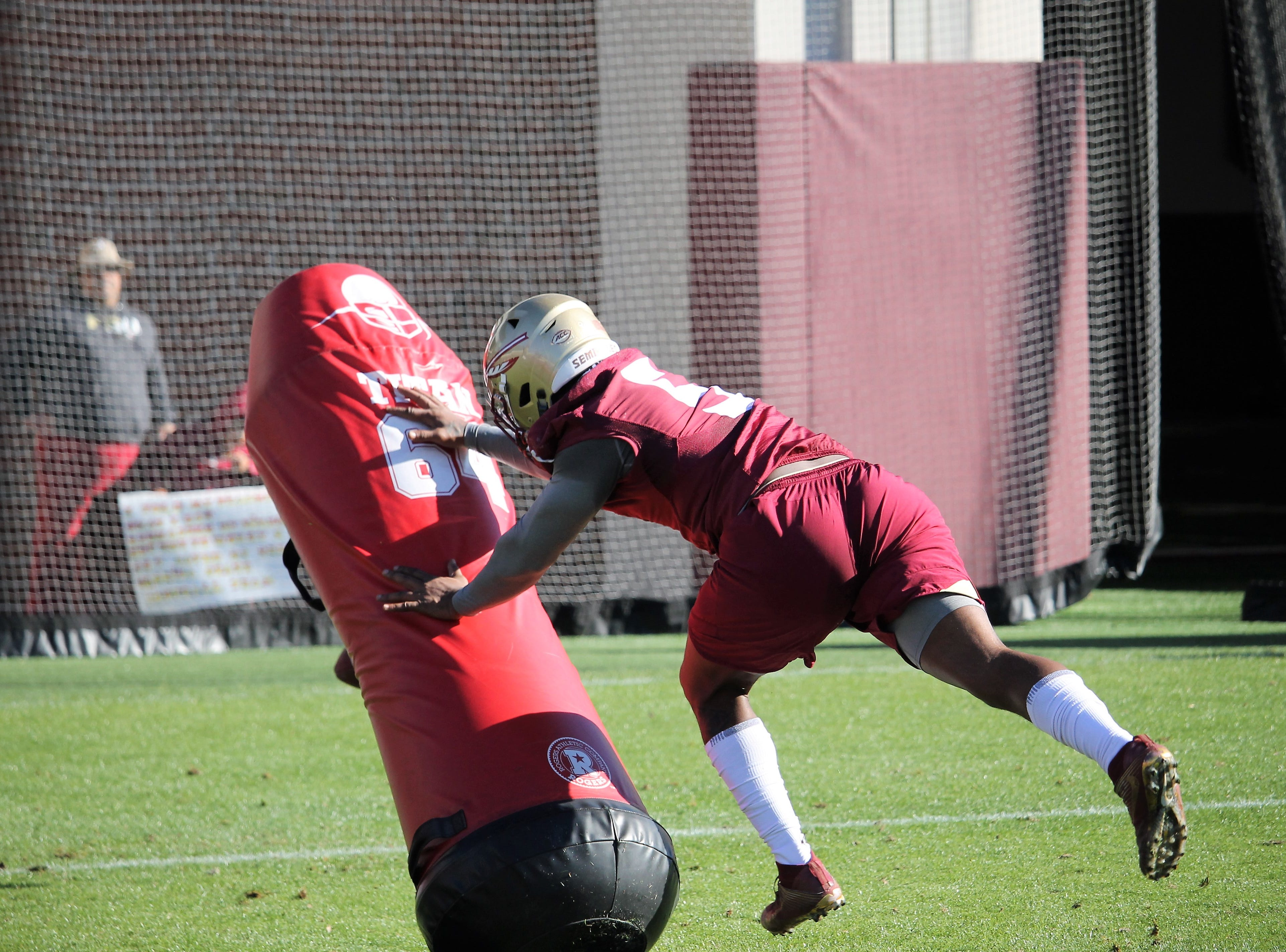 Linebacker Dontavious Jackson at FSU football practice on March 6, 2019.