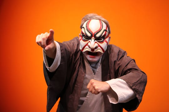 Tallahassee premiere of the critically-acclaimed 7(X1) Samurai performed by D.C.'s David Gaines will be presented on March 12 and 13.