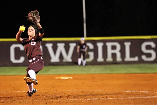 Madison County senior pitcher Reese Rutherford pitches during a blowout win over Suwannee last week. Rutherford threw a three-inning perfect game with all strikeouts and hit a grand slam home run.
