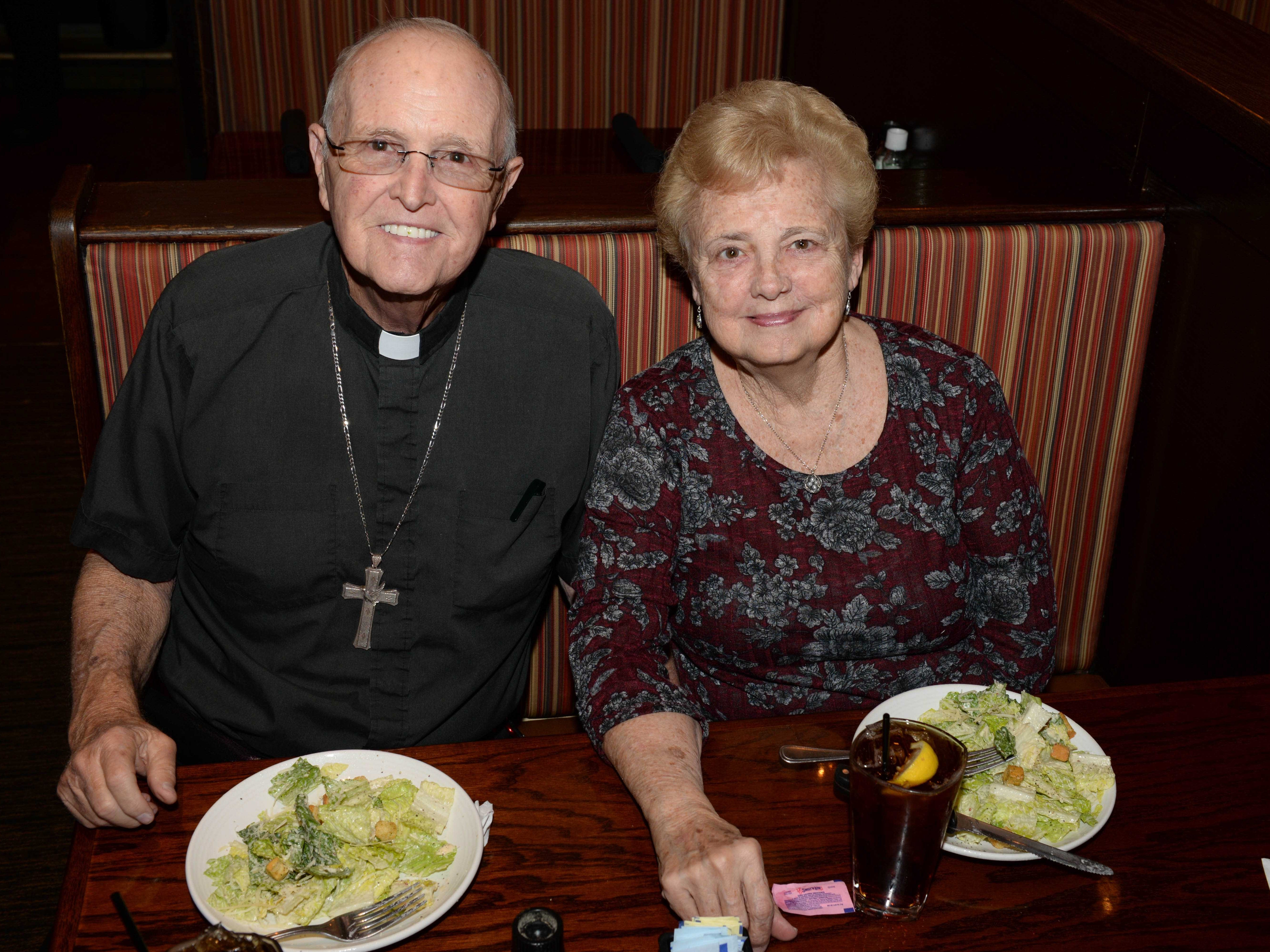 The Rev. Cecil Radcliff and Rhonda Radcliff at Carrabba's Italian Grill in St. Lucie West.