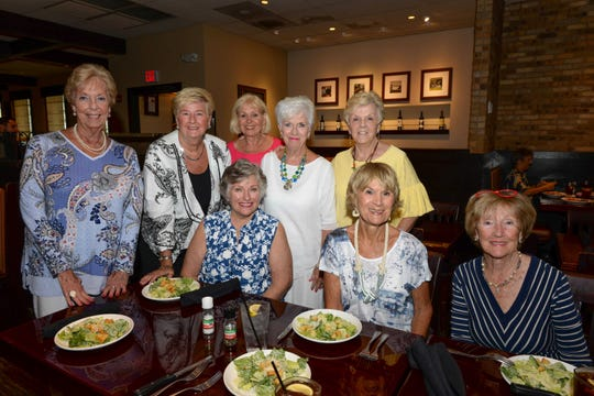 PGA Group members, from left, standing, Katie Hackett, Patty Poole,  Diana Brigham, Helen Terrill, and Ellen Romanko, with Pam Sheerin, seated, Anita Pfeil and Bobbie Pappas.