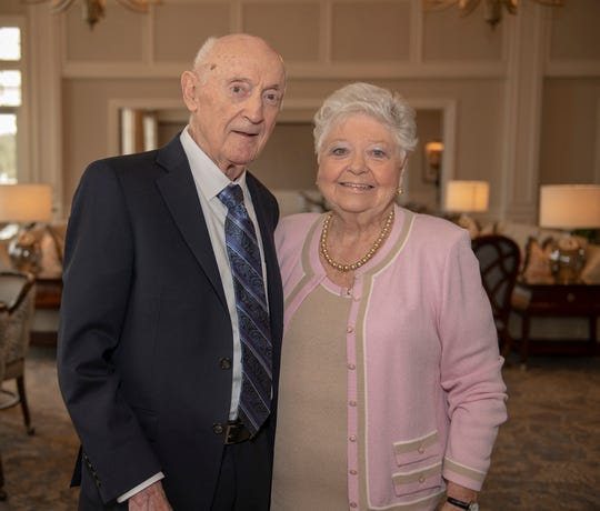 Honoree May Smyth with her husband Vincent. The Library Foundation of Martin County and Knight Kiplinger honored May Smyth as the 2019 recipient of the Kiplinger Literacy Award on Jan.28 at Harbour Ridge Yacht & Country Club in Palm City.